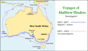 Matthew Flinders Map